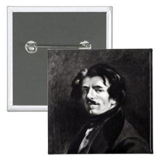 Portrait of Eugene Delacroix Button