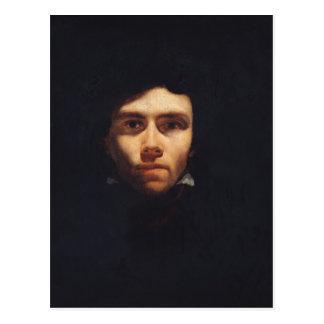 Portrait of Eugene Delacroix  c.1818-19 Postcard