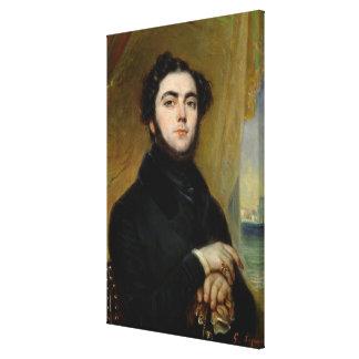 Portrait of Eugene Sue  1837 Canvas Print