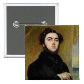 Portrait of Eugene Sue  1837 Pinback Button