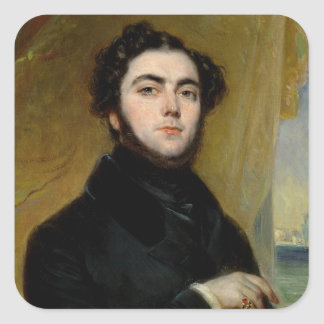 Portrait of Eugene Sue  1837 Square Sticker