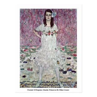 Portrait Of Eugenia (Maeda) Primavesi Postcard