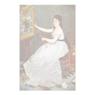Portrait Of Eva Gonzales In The Studio Manet Customized Stationery