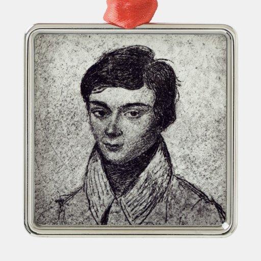 Portrait of Evariste Galois Ornament