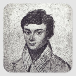 Portrait of Evariste Galois Square Sticker