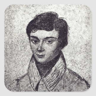 Portrait of Evariste Galois Square Sticker