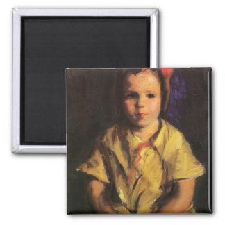 Portrait of Faith by Robert Henri 2 Inch Square Magnet