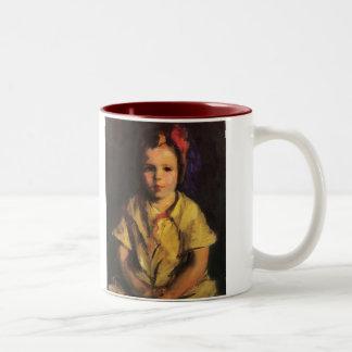 Portrait of Faith by Robert Henri Two-Tone Coffee Mug