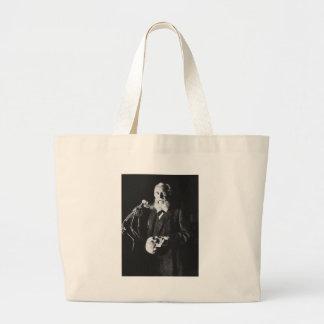 Portrait of Famous German Biologist Ernst Haeckel Bag