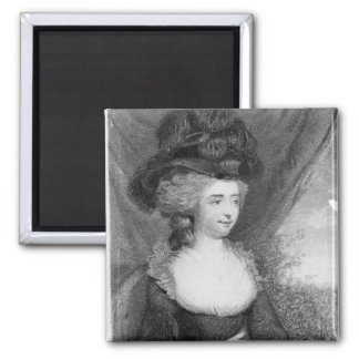 Portrait of Fanny Burney   pub. by Henry 2 Inch Square Magnet
