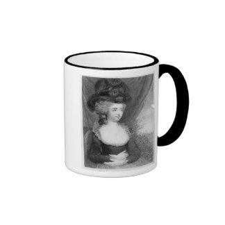 Portrait of Fanny Burney   pub. by Henry Ringer Coffee Mug