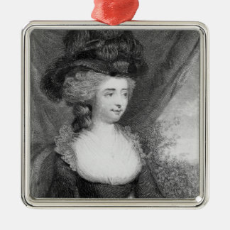 Portrait of Fanny Burney   pub. by Henry Square Metal Christmas Ornament
