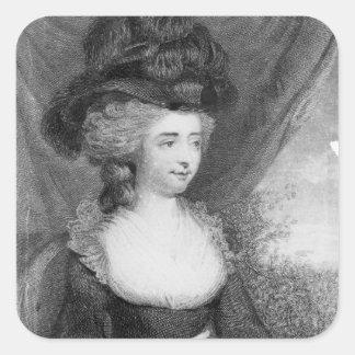 Portrait of Fanny Burney   pub. by Henry Square Sticker