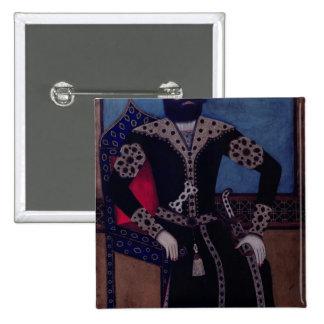 Portrait of Fath-Ali, Shah of Iran , 2 Inch Square Button