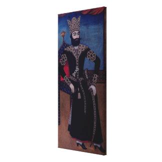 Portrait of Fath-Ali, Shah of Iran , Canvas Print