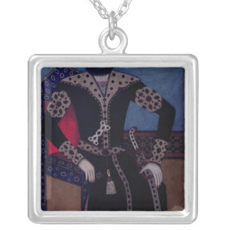Portrait of Fath-Ali, Shah of Iran , Silver Plated Necklace