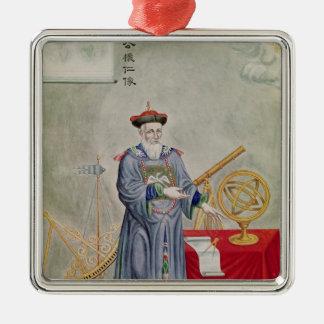 Portrait of Father Ferdinand Verbiest Metal Ornament