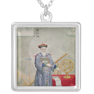 Portrait of Father Ferdinand Verbiest Silver Plated Necklace