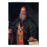 Portrait of Father Fyodor Dubyansky Greeting Card