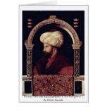Portrait Of Fatih Sultan Mehmed Ii The Conqueror Greeting Card