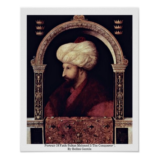 Portrait Of Fatih Sultan Mehmed Ii The Conqueror Print
