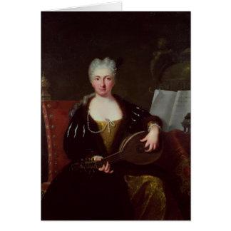Portrait of Faustina Bordoni, Handel's singer Greeting Card