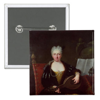 Portrait of Faustina Bordoni, Handel's singer Pinback Button