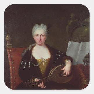 Portrait of Faustina Bordoni, Handel's singer Sticker