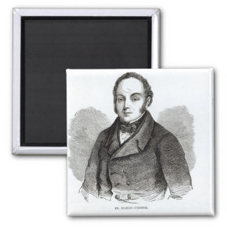 Portrait of Feargus O'Connor 2 Inch Square Magnet