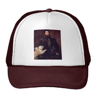 Portrait Of Federico Ii Gonzaga. By Tizian Trucker Hat