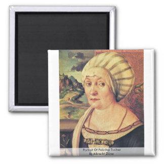 Portrait Of Felicitas Tucher By Albrecht Dürer Refrigerator Magnet