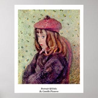 Portrait Of Felix By Camille Pissarro Print