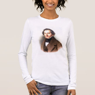Portrait of Felix Mendelssohn (1809-47) (litho) Long Sleeve T-Shirt