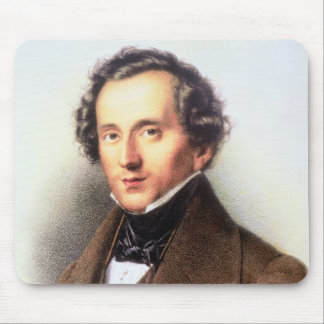 Portrait of Felix Mendelssohn (1809-47) (litho) Mouse Pad