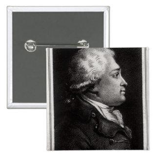 Portrait of Felix Vicq d'Azyr 2 Inch Square Button