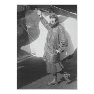 Portrait of Female Aviator Marjorie Stinson Card