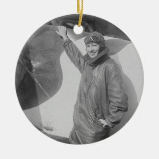 Portrait of Female Aviator Marjorie Stinson Ceramic Ornament