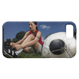portrait of female football player tying her iPhone SE/5/5s case