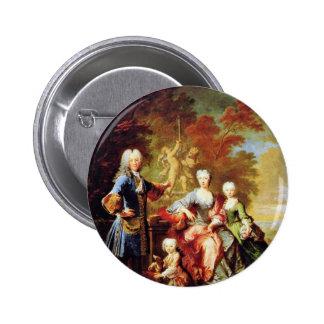 Portrait Of Ferdinand Adolf Graf Von Plettenberg Pinback Button