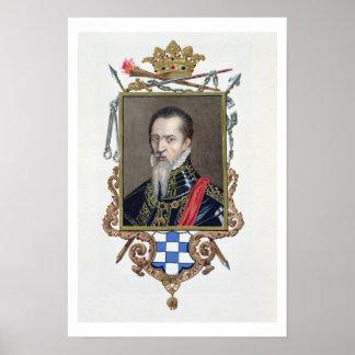 Portrait of Ferdinand Alvarez de Toledo Duke of Al Print