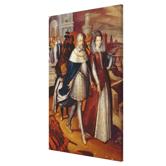 Portrait of Ferdinand I  and his Niece Canvas Print