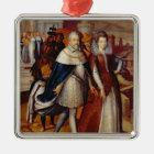Portrait of Ferdinand I  and his Niece Metal Ornament
