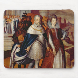 Portrait of Ferdinand I  and his Niece Mouse Pad