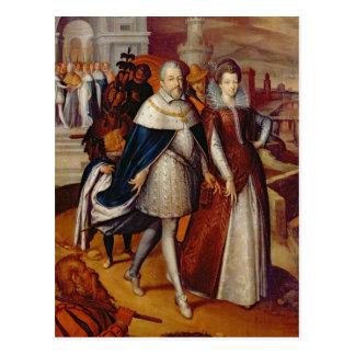 Portrait of Ferdinand I  and his Niece Postcard