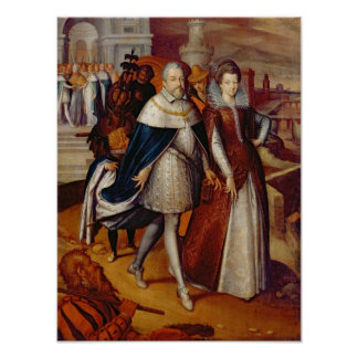 Portrait of Ferdinand I  and his Niece Poster