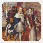 Portrait of Ferdinand I  and his Niece Square Sticker