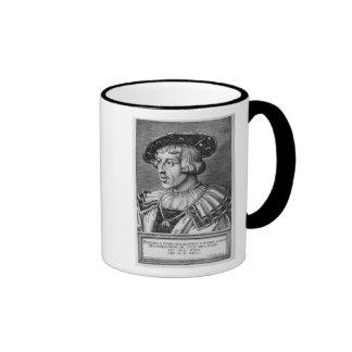 Portrait of Ferdinand I of Habsburg, 1531 Ringer Coffee Mug