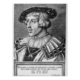 Portrait of Ferdinand I of Habsburg, 1531 Postcard