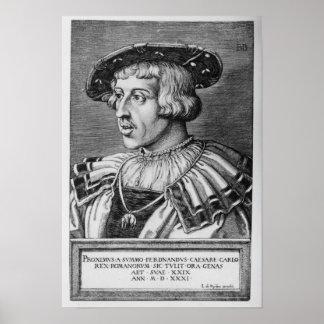 Portrait of Ferdinand I of Habsburg, 1531 Print