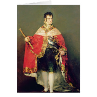 Portrait of Ferdinand VII  1814 Card